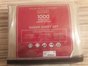 FAIRFIELD SQUARE COLLECTION 1000 Thread Count Whitney Queen Sheet Set