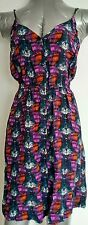 ANTHROPOLOGIE ECOTE slip-on Dress Size L 100% Silk Abstract Print --BRAND NEW--