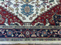 8'x10' New Vege Dyed hand knotted wool super Herizz Serapi Oriental rug