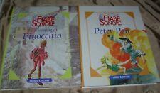 2 Volumi FIABE SONORE-LE AVVENTURE DI PINOCCHIO e PETER PAN 2000 Fabbri editore
