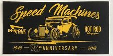 2018 IN-N-OUT BURGER HOT ROD MAGAZINE STICKER 70th ANNIVERSARY SO CALIFORNIA