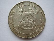 1907 silver Shilling NEF