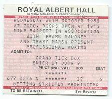 PROFESSIONAL BOXING October 1988 Royal Albert Hall Frank Maloney Terry Marsh