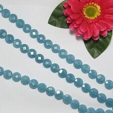 Strang Aquamarin Farbe Quarz 14mm rund facett Lose Perlen