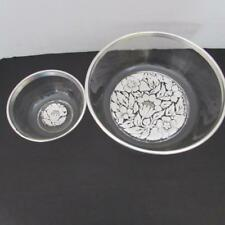 Georges Briard Signed  000000Bd Sterling Silver Trimmed Chip & Dip Bowls (Euc)