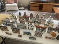 Vintage The Cat'S Meow Village Collection Huge Lot Of 35 Pcs Misc Series