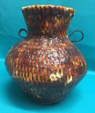 New listing Large Apache 10 1/2� Woven Water Basket Pine Pitch Jug Native American Vintage