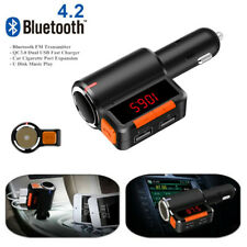 Bluetooth Car Kit Mp3 Player Fm Transmitter Cigarette Lighter Splitter USB QC3.0