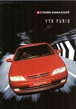 CITROEN XSARA Coupe 1.8 i 16V VTR FURIO 2000 Regno Unito delle vendite sul mercato opuscolo