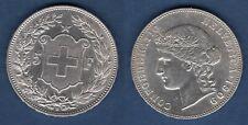 Suisse 5 Francs 1909 Bern Argent TTB SUP - Swiss Helvetia