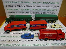 LOT 1 coches 1/87 HO RENAULT 8 + gordini + COCA COLA truck 1947 + 2 camiones