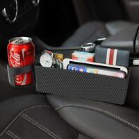 1Pc Carbon Fiber Auto Car Seat Gap Catcher Crevice Pocket Storage Organizer New