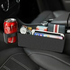 Carbon Fiber Auto Car Seat Gap Catcher Crevice Pocket Storage Box Organizer Stow