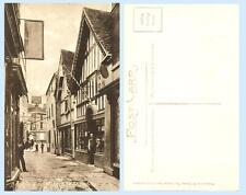The Shambles Bradford on Avon England UK 1913 Postcard - Shops