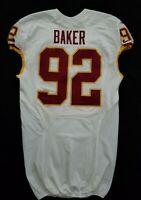 #92 Chris Baker of Washington Redskins NFL Game Issued Lightly Worn Jersey