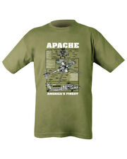 Apache Helicopter T-Shirt, New S-2XL