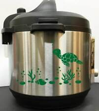 Sea Turtle And Shells - Green Vinyl Decal Sticker for Instant Pot Instapot