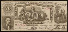 1861 $20 CONFEDERATE STATES CONTEMPORARY COUNTERFEIT CIVIL WAR NOTE MONEY CT-20