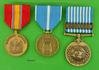 Korean War Service 3 Medal Set  Army, Navy, Air Force, Marine - Made in the USA