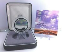 2002 $5 Silver Proof Holographic Coin Year of the Outback Box Limited Rare CoA