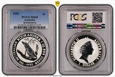 1992 $1 Australia Kookaburra 1OZ Silver Bullion Coin MS69 Slabbed by PCGS