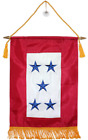"""12x18 Embroidered 5 Five Star Blue Military Service Nylon Flag 12""""x18"""" Banner"""