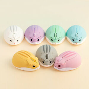 2.4GHz Wireless Optical Mouse Hamster Shape Silent Mice For PC Laptop 1200 DPI
