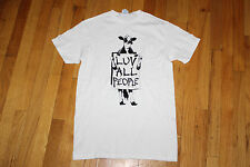 """DELTA PROWEIGHT S/S T-SHIRT  SIZE S 100% COTTON  WHITE """"LUV ALL PEOPLE""""  NEW"""