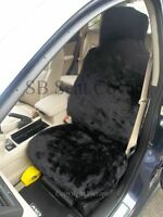 VOLKSWAGEN UP CAR SEAT COVERS -BLACK FAKE PANTHER FUR -FULL SET