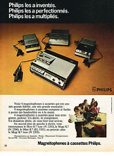 PUBLICITE ADVERTISING 024   1972   PHILIPS   magnétophone à cassette