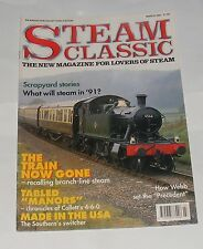 """STEAM CLASSIC MARCH 1991 - THE TRAIN NOW GONE/TABLED """"MANORS""""/MADE IN THE USA"""