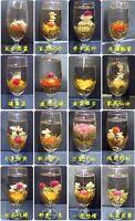 16 different HANDMADE BLOOMING TEA,Artistic flowering Green Flower ball,FREE P&P