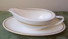 FUKAGAWA DORSET GRAVY BOAT AND UNDERPLATE (RELISH PLATTER PLATE)JAPAN IMPERIAL