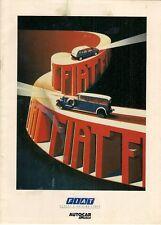 Fiat Autocar & Motor Supplement 1988 UK Brochure Panda Uno Tipo Regata Croma