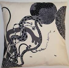"Large 24"" Cushion Covers Trendy Cream Black Grey Cotton Made From IKEA Fabric"