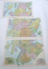 SCOTLAND - Large Original Antique Map  -  G.W.BACON  -  1904.