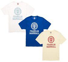 Franklin & Marshall Slim Fit Big Logo Print T-Shirt Casual Top Tee S M L XL XXL