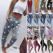 Womens Casual Jogger Sports Yoga Fitness Pants Bottoms Trousers Loose Sweatpants