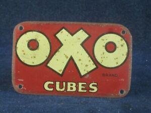 53400 Old Vintage Antique Tin Sign Shop Advert N0t Enamel Oxo Cubes Kitchen