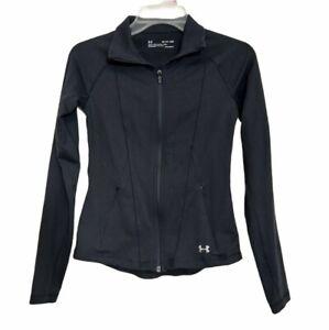 Under armour heatgear Women's Long Sleeve Full Zip Track Jacket Size XS Black