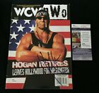 HULK HOGAN SIGNED WCW MAGAZINE JSA AUTHENTICATED WWE