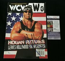 HULK HOGAN SIGNED WCW MAGAZINE JSA AUTHENTICATED WWE