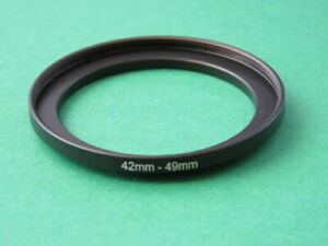 42mm to 49mm Stepping Step Up Male-Female Filter Ring Adapter 42mm-49mm