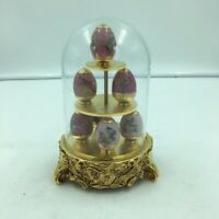 Ruby Garden HOUSE OF FABERGE 7 Mini EGGS Franklin Mint Limited Edition