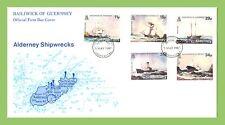 Alderney 1987 Shipwrecks set on First Day Cover