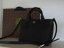 Tory BURCH BORSA Robinson Black Saffiano leather bag Borse a tracolla NUOVO