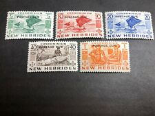 British New Hebrides Scott J11-15 Mint OG CV $27