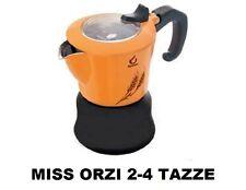 ORZIERA CAFFETTIERA MISS ORZI FOREVER X CAFFE' ORZO 2-4 TAZZE COLORE ARANCIO