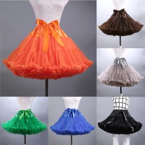 UK Girls Women Tutu Skirts Dance Tutu Petticoat Party Dress Ballet Underskirt
