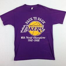 vtg 80s LA Lakers T-Shirt LARGE Worn-Thin Back to Back Champs 87-88 USA Made
